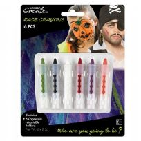 Face Crayons In Retractable Holder (6)